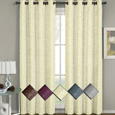 Fiorela Grommet Jacquard Window Curtain Panel, 1 Single Panel 54 x 96 Inch