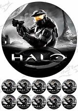 HALO  Large Cake Topper Edible Icing Paper Birthday Personalised PARTY +10 FREE