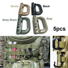 5PCS Grimloc D-ring Molle Locking Webbing Buckle Climb Backpack Hook EDC Tool