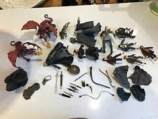 Lord Of The Rings Figures Marvel Job Lot! Including Weapons & Props