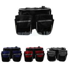Cycling Bicycle Top Frame Front Pannier Saddle Tube Bag Double Pouch+Dust Cover