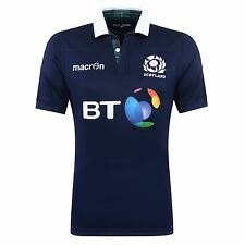 Macron Mens Gents Scotland Rugby Home Authentic Pro Shirt Jersey Top 2016-17