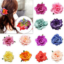 1pcs Rose Flower Bridal Hair Clip New Wedding Party Hairpin Women Bridesmaid