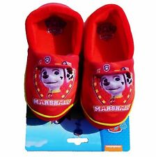 PAW PATROL MARSHALL FIRE PUP Comfy Slippers NWT Toddler's Sizes 5/6, 7/8 or 9/10