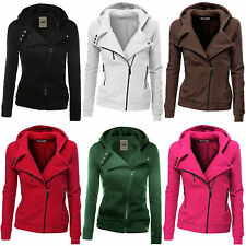 Women Zipper Top Hoodie Hooded Sweatshirt Coat Jacket Casual Slim Jumper Sweater