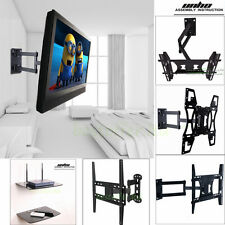 Universal Full Motion TV Wall Mount 22-70 Inch,1/2 Tier Under TV DVD Stand Shelf