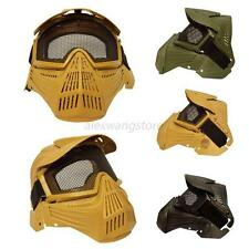 TMens actical Airsoft Full Face Mask with Safety Metal Mesh Goggles Protection