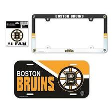 Boston Bruins License Plate and Frame 3 Piece Gift Set