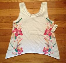 NWT Girl's Old Navy White Tank Top w/Floral Design - Size XS 5