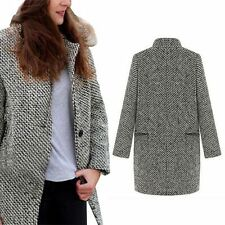 Warm Overcoat Trench Outwear Womens Winter Long Wool Cashmere Parka Coat Jacket
