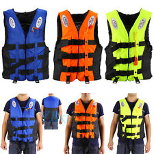 Children Adult Polyester Life Jacket Universal Swimming Boating Ski Vest+Whistle