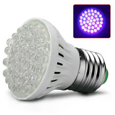 Ultra Bright E27 UV Ultraviolet Color Purple Light 38LED Lamp Bulb 110/220V