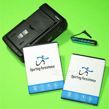 2x 2700mAh Battery Travel Charger Stylus for Boost Mobile ZTE Warp Sync N9515