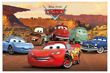 Disney Pixar Cars Characters Film Movie Poster New - Maxi Size 36 x 24 Inch