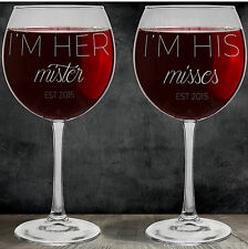 Best Set of Clear Red Wine Glasses for Wedding Gifts! Select Your Etched Design!