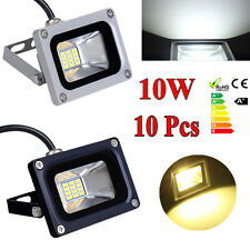 10X 10W Warm Cool White Floodlight LED Security Outdoor Lamp Waterproof IP65 12V