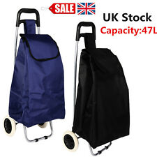 Large Capacity Light Weight Wheeled Shopping Trolley Push Cart Bag wheels