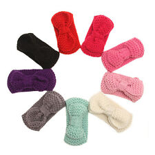 Lovely Baby Infant Girl Warm Wrap Hair Band Bowknot Wool Headband Crochet Hat 1x