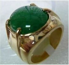 Men's jewelry REAL green jade ring size:9-11