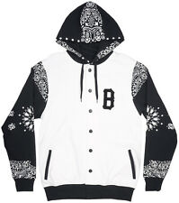 Black Scale Couvre Button Jacket Hooded Mens White Blvck Scvle Occult Streetwear