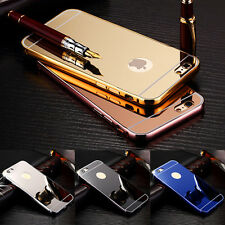Luxury Aluminum Ultra-thin Mirror Back Case Cover for New Apple iPhone 7 6 6S