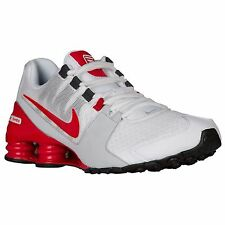 NIKE SHOX AVENUE WHITE ACTION RED MENS RUNNING SHOES **FREE POST AUSTRALIA