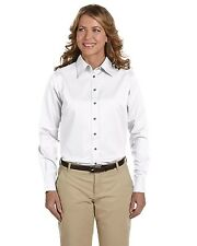 Harriton Dress Shirt Women's Long Sleeve Twill with Stain-Release M500W NEW