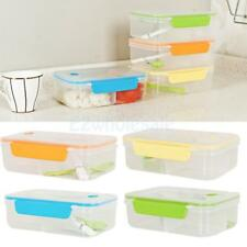 Separated Bento Lunch Box Set Utensils Picnic Food Storage Containers Portable