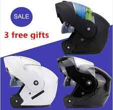 Motorcycle Full Face Flip Up  Helmet Dual Visor  With Inner Lanes WITH GIFT DOT