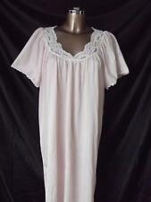 VINTAGE NEW PEACH NYLON NIGHTGOWN WITH LACE SIZE XL