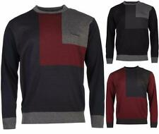 Pierre Cardin Block Knit Jumper Mens Soft Touch Sweater Casual ~All sizes S-XXL