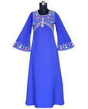 Traditional Gorgeous Embroidered Abaya Jilbab Islamic Fancy Dress Online ZA-182