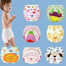 Baby Kids Toilet Animals Prints Pee Potty Training Pants Cloth Diaper Underwear