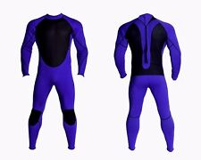 New Mens 3mm Blue Black Neoprene Wetsuit Wet Suit Full Body Smooth Skin Surf