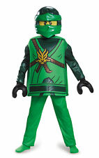 Deluxe Lloyd Green Ninjago Lego Boys Child Costume NEW Masters of Spinjitzu