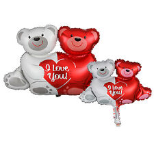 Bear Couple Shape Foil Balloon Wedding Anniversary Valentine Party Decoration