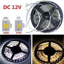 Waterproof 5M 3528 5050 SMD 150 300 600 Led Strip String Lights Warm Cool White