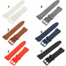 17/19/20mm Cool Men Silicone Rubber Watch Strap Replacement Band Belt Waterproof