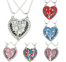 Chain Clavicle Gift Alloy Jewelry Crystal Necklace Fashion Heart-Shaped Pendant