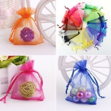 50Pcs Jewellery Packing Organza Pouch Wedding Favour Sheer Gift Bag Wholesale