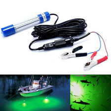 12V Underwater Green White LED Fishing Light Night Boat attracts fish Squid AU