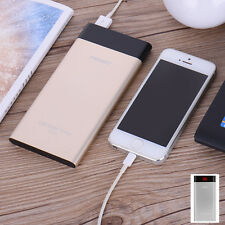 PISEN LCD Universal Power Bank 10000mAh USB Fashion Mobile Portable Charger