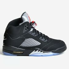 AIR JORDAN 5 RETRO OG BLACK 2016 FIRE RED METALLIC SILVER V NIKE DS 845035-003