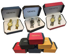 Brand New Christmas Gift Geneva His and Hers Gift Watch Set - A Pair of Watches