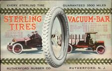 Rutherford NJ Rubber Co Sterling Tires Auto Automotive Postcard 1914 gfz