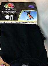 Boys black  Performance  Base Layer Thermal set XS or XL fruit of the Loom