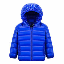 Winter Child Hooded Duck Down Feather Boy Girl Coat Warm Unisex Jacket Packable