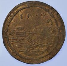 Spanish Netherlands - 1554 Philip II Galley and Eagle Jeton Scarce