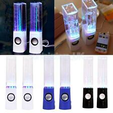 LED Dancing Water Show Music Light USB Bass Speakers Stereo for Phone Computer
