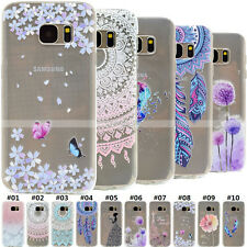 Rubber Gel Silicone Slim Clear Soft TPU Skin Back Case Cover For Samsung Galaxy